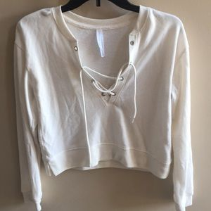 Tops - Long Sleeve Crop Top